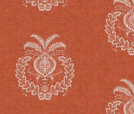 Antibes Batik Medallion in Spice fabric by willowlanetextiles on Spoonflower - custom fabric