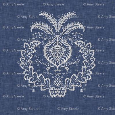 Antibes Batik Medallion in Indigo