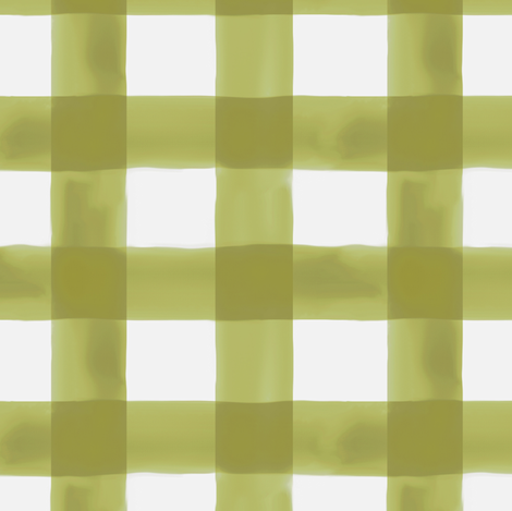 Watercolor Gingham in Green fabric by willowlanetextiles on Spoonflower - custom fabric