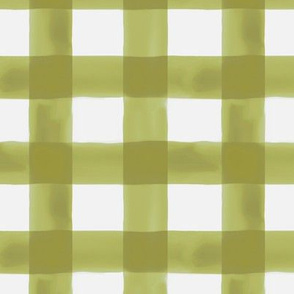 Watercolor Gingham in Green