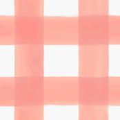 Watercolor Gingham in Peach