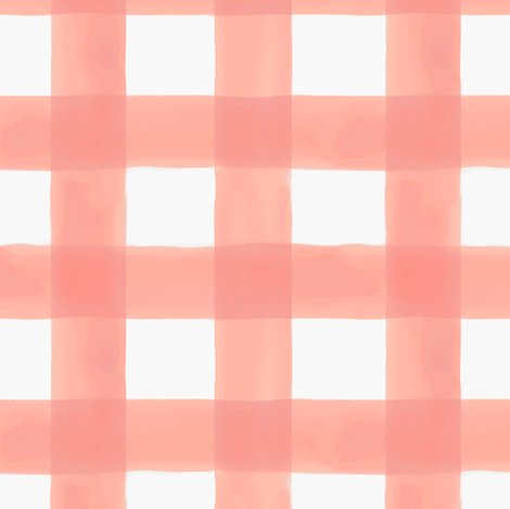 Watercolor Gingham in Peach fabric by willowlanetextiles on Spoonflower - custom fabric
