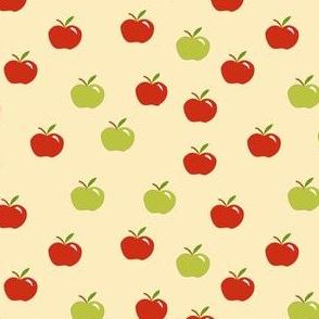 tiny apples on tan