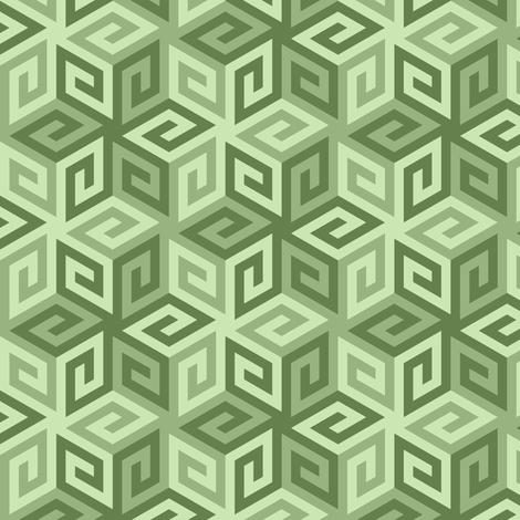 04935267 : greek cube : khaki limestone green fabric by sef on Spoonflower - custom fabric