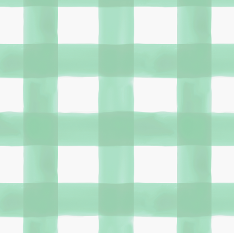 Watercolor Gingham in Mint fabric by willowlanetextiles on Spoonflower - custom fabric