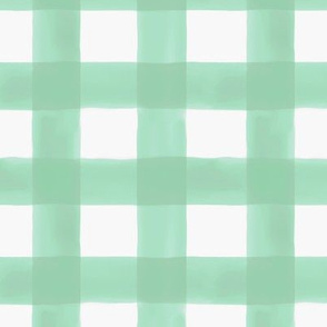 Watercolor Gingham in Mint