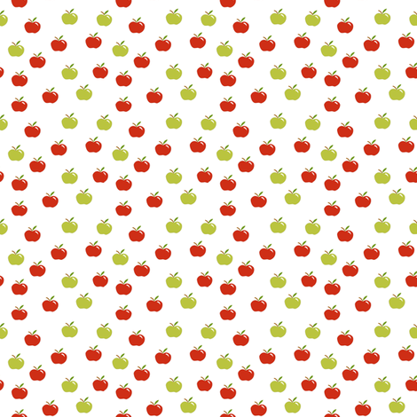 tiny apples on white fabric by pamelachi on Spoonflower - custom fabric