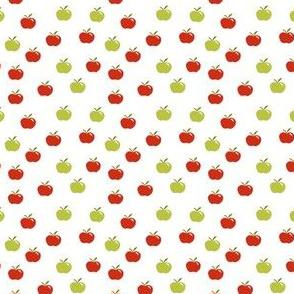 tiny apples on white