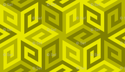 04935282 : greek cube : yellow olive