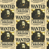Brook's wanted poster from One Piece