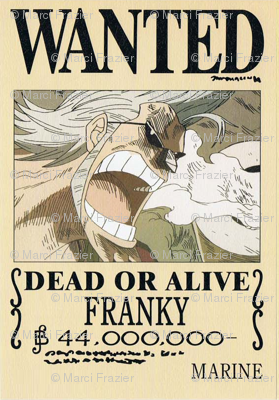 Frankys Wanted Poster From One Piece Wallpaper Marcifrazier