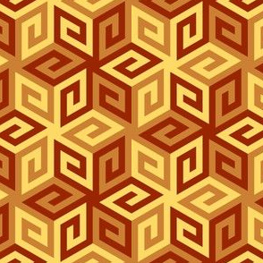 04935356 : greek cube : terracotta