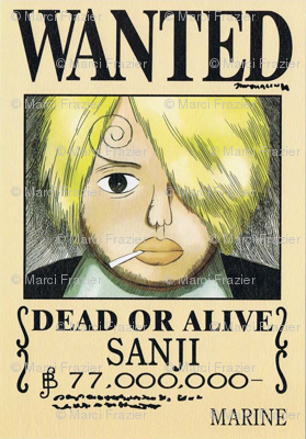 Sanjis Wanted Poster From One Piece Wallpaper Marcifrazier