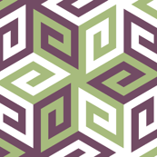 greek cube : geometric contest palette