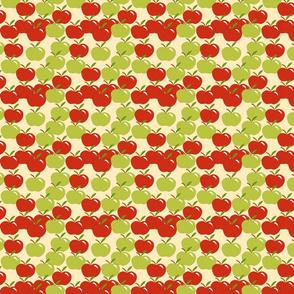 apples on tan