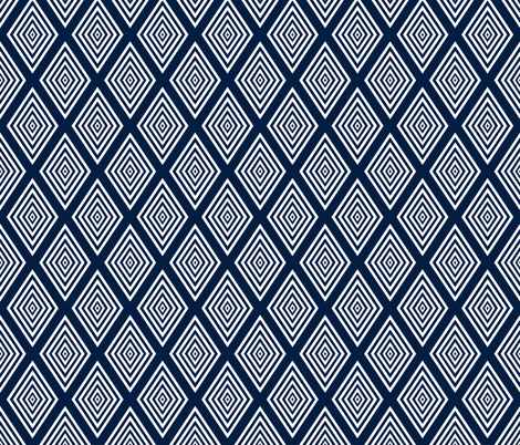 White on navy Op Art cut out diamonds by Su_G fabric by su_g on Spoonflower - custom fabric