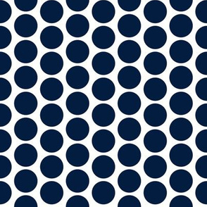 Navy on white polka dots by Su_G