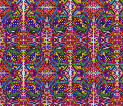 Sugar Skull 1 fabric by flowerchildtrends on Spoonflower - custom fabric
