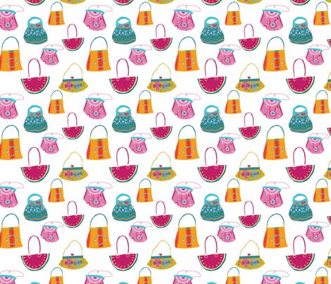 handbags-01 fabric by birdandblossom on Spoonflower - custom fabric