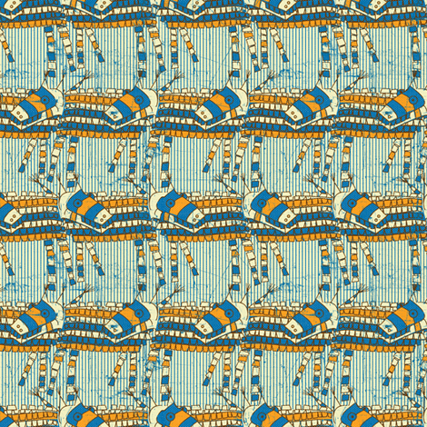 Piñata Vintage fabric by susiprint on Spoonflower - custom fabric