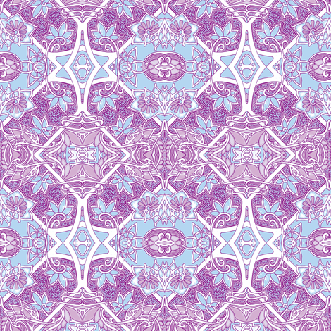 Revenge of the Lavender Fairy fabric by edsel2084 on Spoonflower - custom fabric