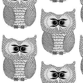 Black and White Owl II
