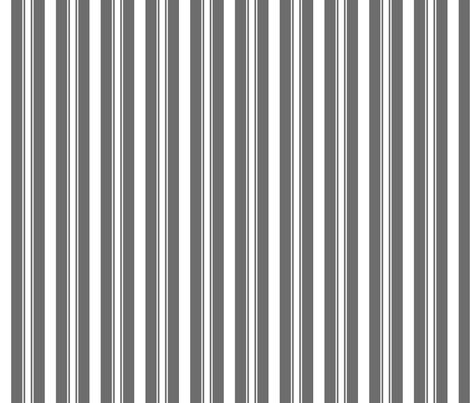 Charcoal Grey Deckchair Stripes fabric by paper_and_frill on Spoonflower - custom fabric