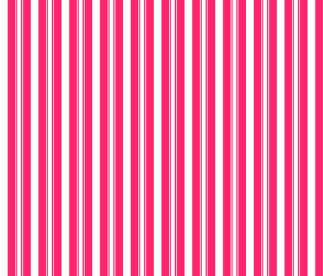 Pop Pink Deckchair Stripes fabric by paper_and_frill on Spoonflower - custom fabric