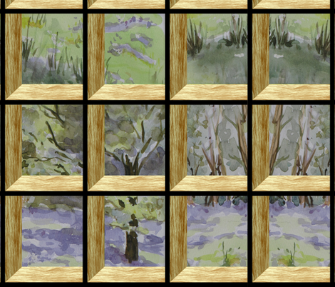 Attic Window On Bluebell Wood fabric by eclectic_house on Spoonflower - custom fabric