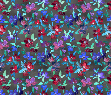 Blossoms in Cherry, Plum and Purple fabric by micklyn on Spoonflower - custom fabric