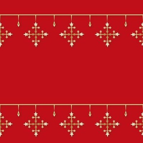 Snowflakes gold_red