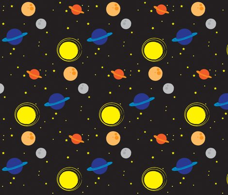 Outer space fabric nissalynn spoonflower for Spaceman fabric