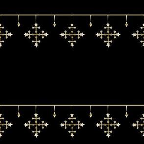 Snowflakes gold_black