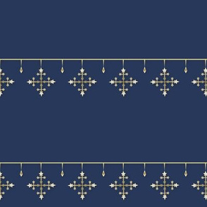 Snowflakes gold_blue