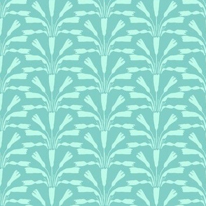 Flower Spray Teal