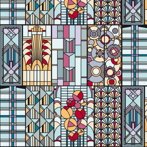 ArtDeco stained glass windows