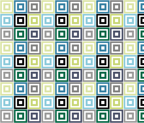 Multi-colored squares fabric by ginajuice on Spoonflower - custom fabric