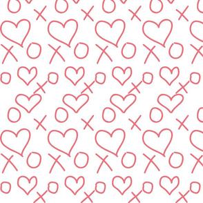 xoxo Heart Pink