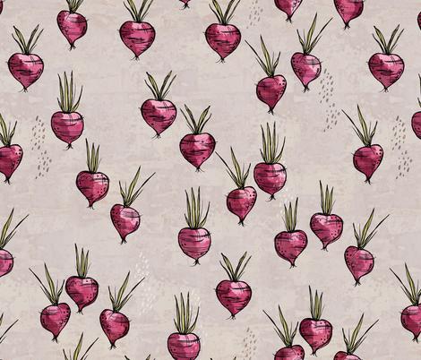 Purple veggies fabric by mulberry_tree on Spoonflower - custom fabric
