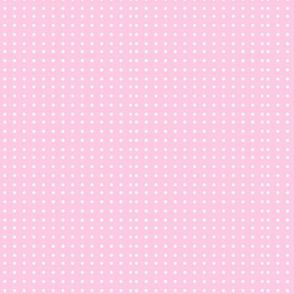 Wonky Dots_pink_with_white_poka_dots