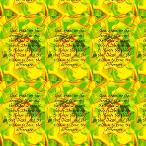 Yellow Serenity Prayer