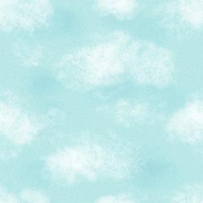 Teal Cloudy Sky