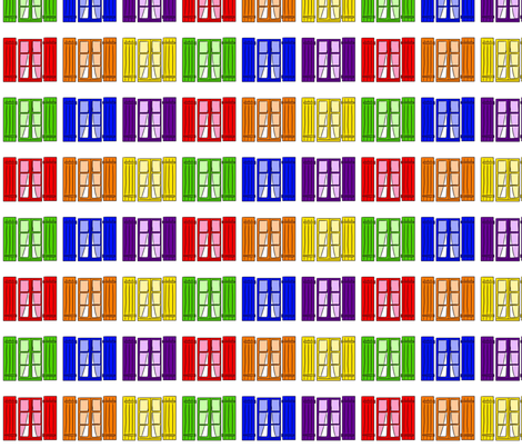 Rainbow Windows fabric by cozyreverie on Spoonflower - custom fabric