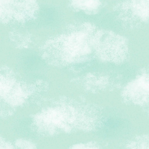 Green Cloudy Sky