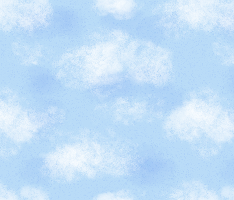 Blue Cloudy Sky fabric by noondaydesign on Spoonflower - custom fabric