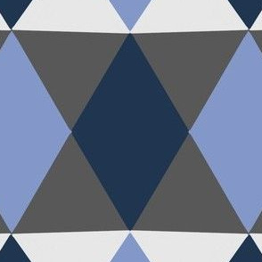 Blues & Greys Geometric Print