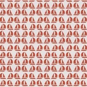 red sailboats
