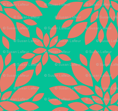 Flower-Petals-Silhouette-coral_and_GREEN