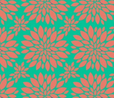 Flower-petals-silhouette-coral_and_green_shop_preview