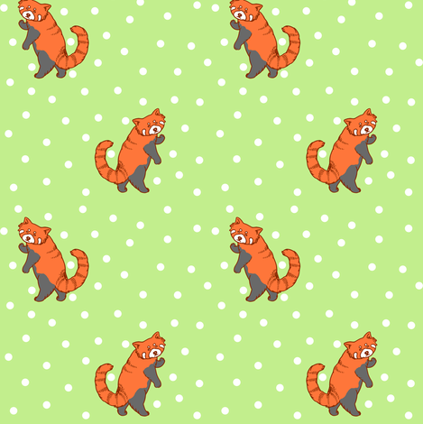 Red Pandas fabric by natelledrawsstuff on Spoonflower - custom fabric